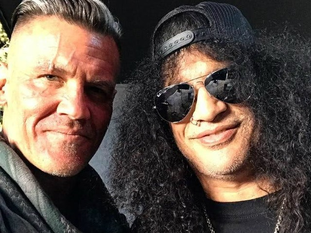 Deadpool 2: Josh Brolin Hangs with Slash on the Film's Set