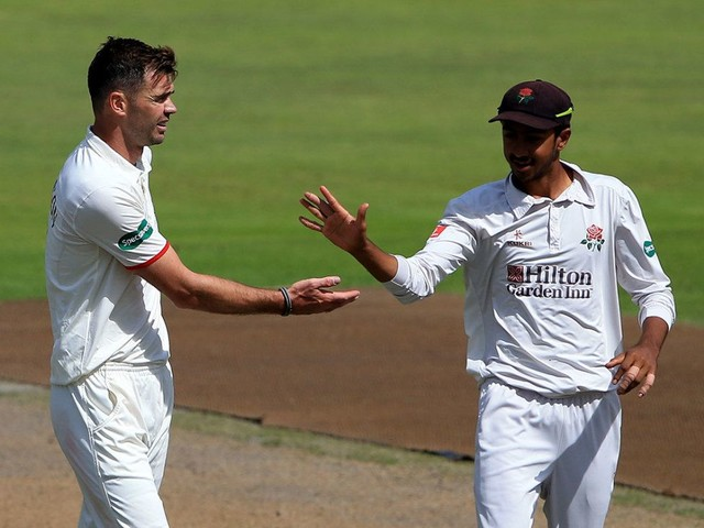 James Anderson takes two wickets on return to action