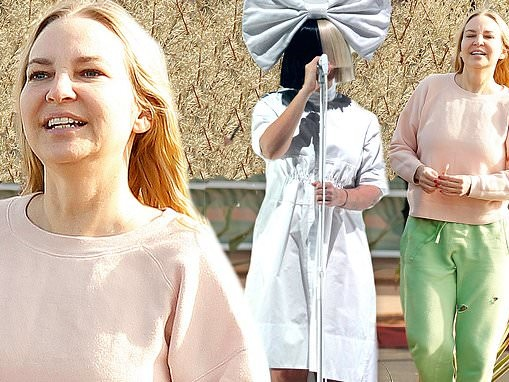 Sia looks like an average Jane as she trades her trademark wig for sweats
