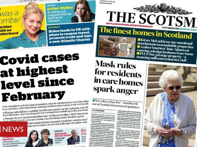 Scotland's papers: Soaring Covid cases and new care home rules
