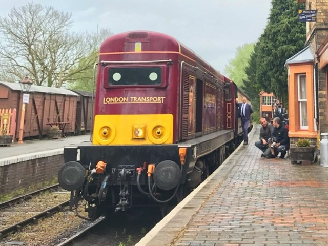 Three London Transport liveried locomotives working together this October