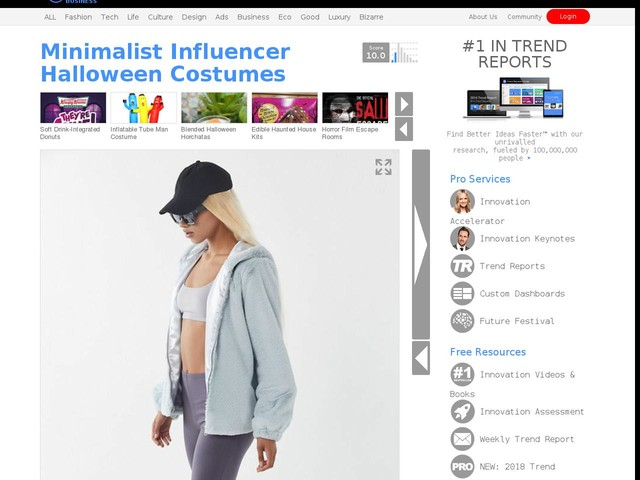 minimalist influencer halloween costumes urban outfitters taps into the recent cultural phenomenon trendhunter