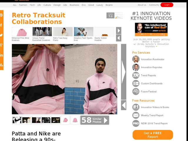 Retro Tracksuit Collaborations - Patta and Nike are Releasing a 90s-Inspired Tracksuit in Pink (TrendHunter.com)