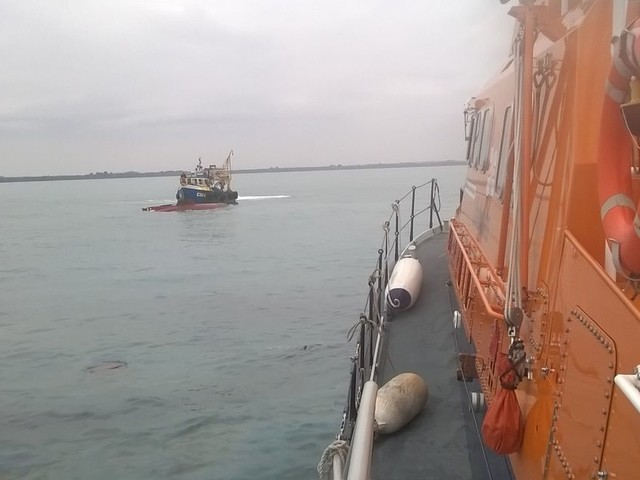Three men rescued from yacht off coast of Rosslare, Wexford during Hurricane Ophelia