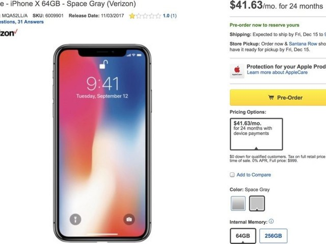 Best Buy Stops Selling Full Price iPhone X After Criticism Over $100 Premium