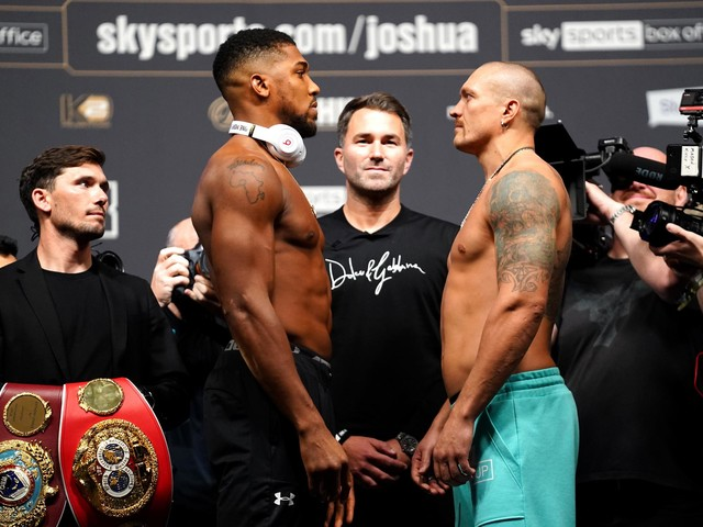 Anthony Joshua vs Oleksandr Usyk: Time, weights, weather and how to watch
