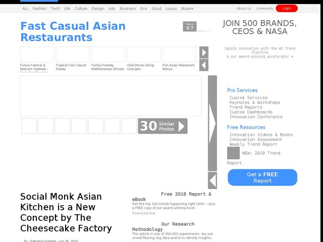 Fast Casual Asian Restaurants - Social Monk Asian Kitchen is a New Concept by The Cheesecake Factory (TrendHunter.com)