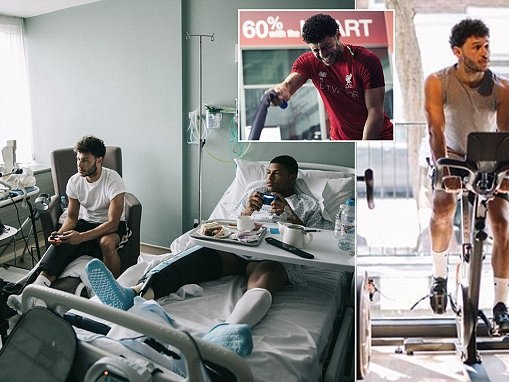 Brewster posts incredible photo of him playing FIFA in hospital bed with Alex Oxlade-Chamberlain