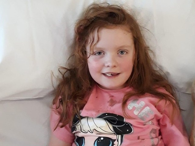 Mum's heartbreak as daughter, 7, dies from brain tumour after falling ill with 'bug'