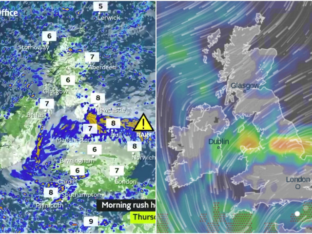 UK weather forecast: 'Danger to life' flood warnings issued by Met Office as month of rain dumped in one hour today