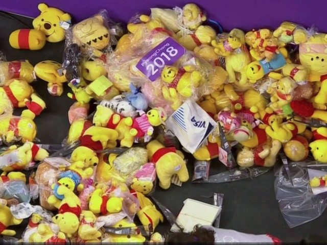 Fans threw hundreds of Pooh Bear dolls onto the ice after Yuzuru Hanyu's monster performance in men's figure skating