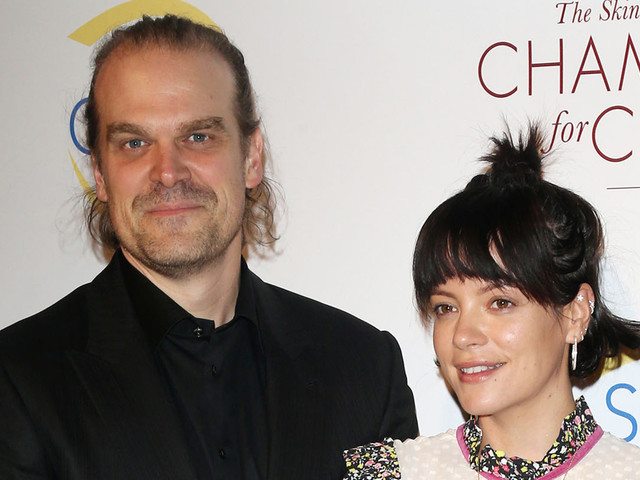 David Harbour & Girlfriend Lily Allen Make Red Carpet Debut at Champions of Change Gala!
