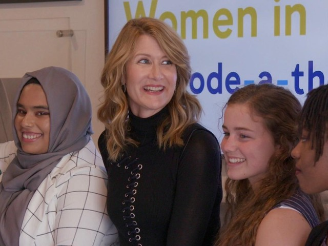 Laura Dern and Booking.com join up to celebrate young women coders - CNET