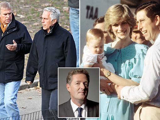 PIERS MORGAN: Prince Andrew should lose 'HRH' as Diana did