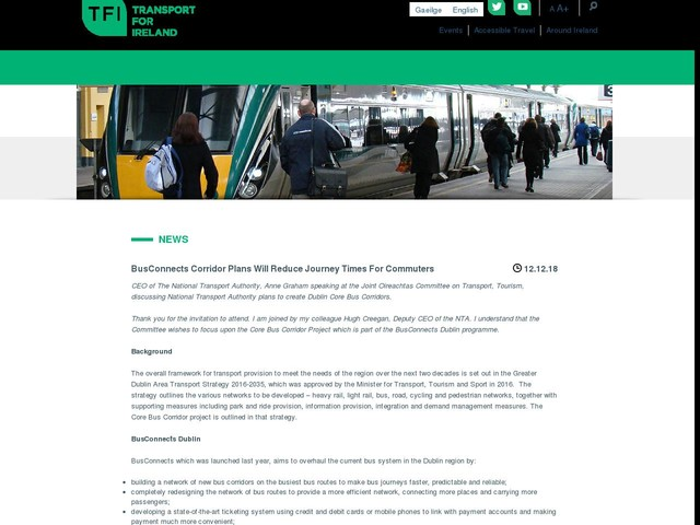 BusConnects Corridor Plans Will Reduce Journey Times For Commuters