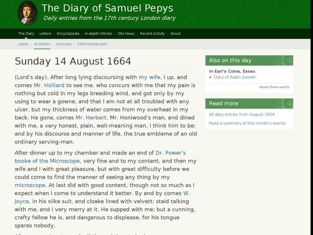 Sunday 14 August 1664
