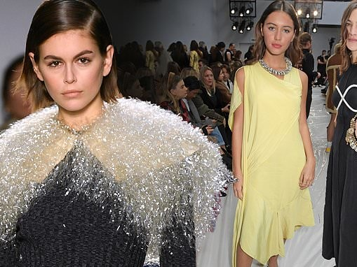 Kaia Gerber takes to the runway for JW Anderson's LFW show... as Iris Law and Alexa Chung attend