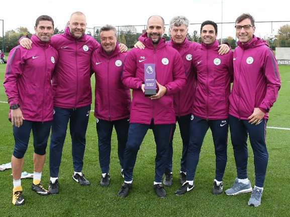 Man City: Flawless Month Sees Pep Guardiola Named Premier League Manager Of The Month For September (Photos)