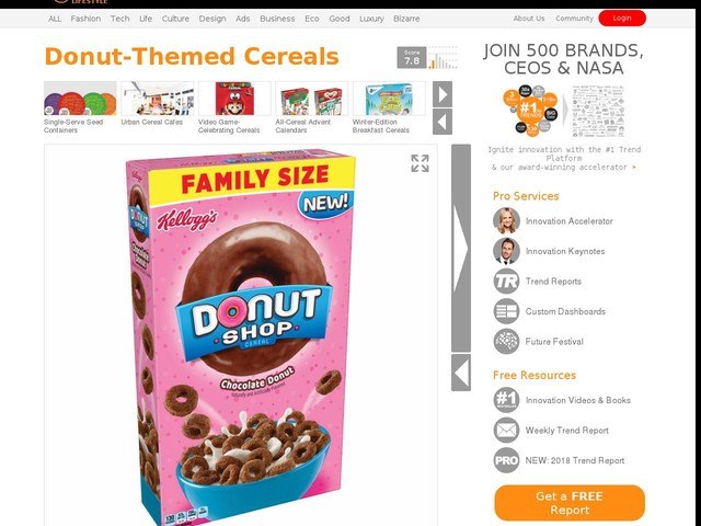 Donut-Themed Cereals - Kellogg's is Launching Donut Shop Cereal in Pink and Donut Varieties (TrendHunter.com)