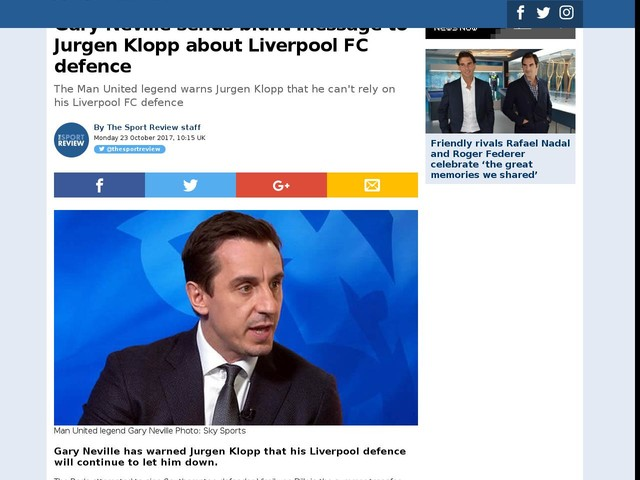 Gary Neville sends blunt message to Jurgen Klopp about Liverpool FC defence