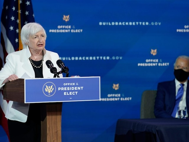 Janet Yellen suggests 'curtailing' cryptocurrencies such as Bitcoin, saying they are mainly used for illegal financing