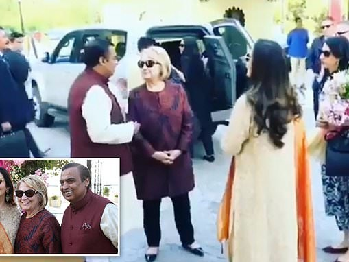 Hillary Clinton takes Huma as her date Indian wedding of billionaire Clinton Foundation mega-donor