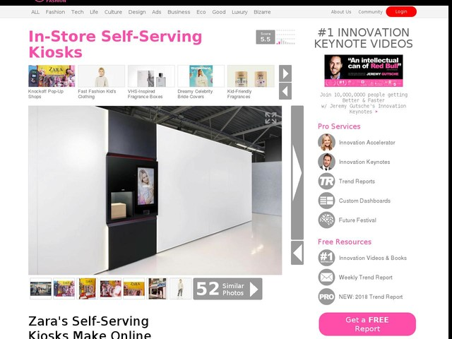 In-Store Self-Serving Kiosks - Zara's Self-Serving Kiosks Make Online Orders More Convenient (TrendHunter.com)