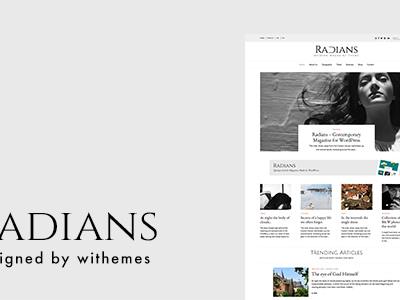 Radians   Modern Magazine Theme (Blog / Magazine)