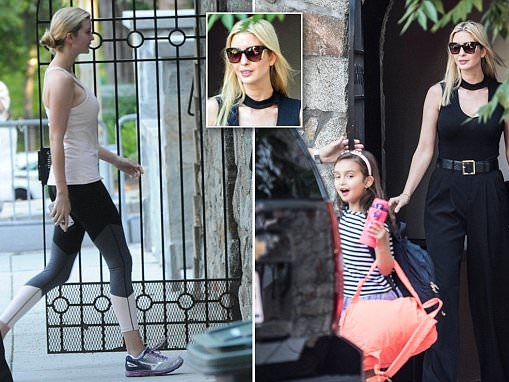 Ivanka Trump's glamorous transformation after gym session