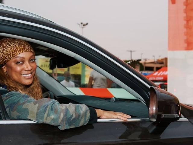 Inside Tyra Banks and Jesse Tyler Ferguson's 10-Course Drive-Thru Dinner