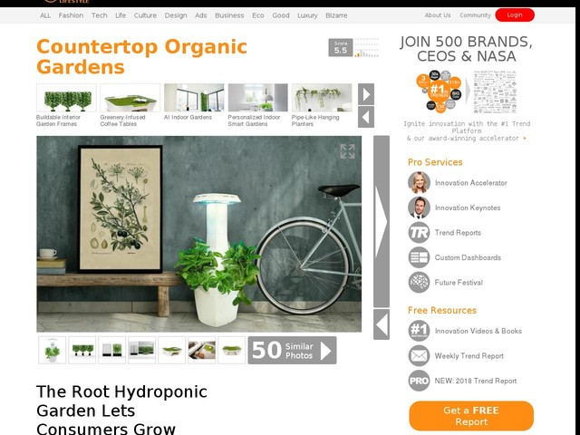 Countertop Organic Gardens - The Root Hydroponic Garden Lets Consumers Grow Organic Produce at Home (TrendHunter.com)