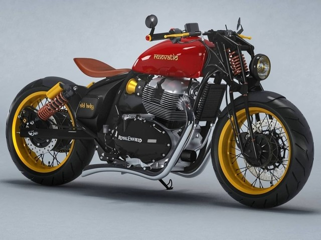 This Royal Enfield 650 Bobber Is A Vintage-Inspired Marvel