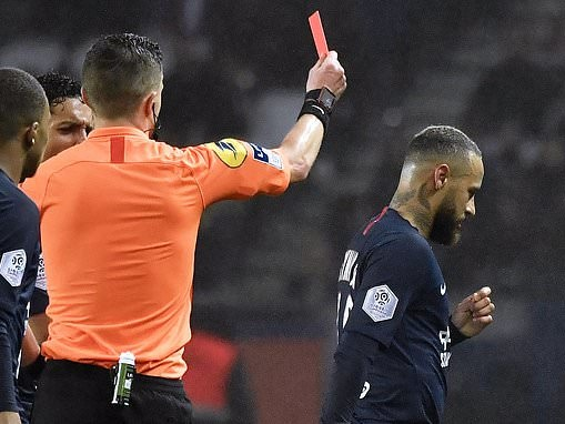 Paris Saint-Germain 4-3 Bordeaux: Neymar sent off for Thomas Tuchel's side in seven-goal thriller