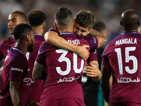 Man City romp to 4-1 friendly win over Real Madrid