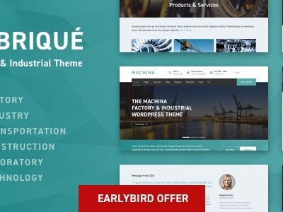 Fabriqué - Factory & Industrial Business WordPress Theme (Business)