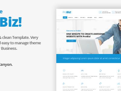 Probiz - Onepage Creative Multipurpose Joomla Template (Joomla)