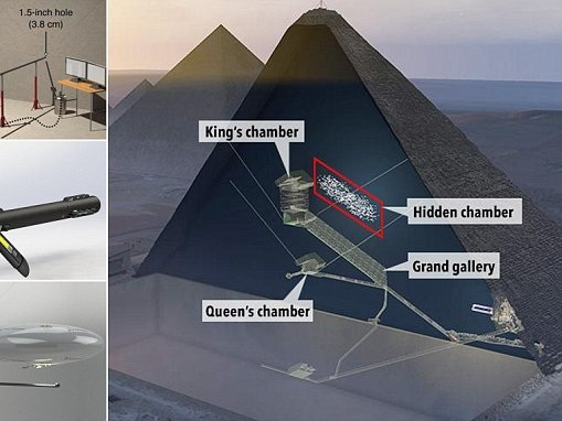 Secrets of Great Pyramid of Giza to be revealed by a robot