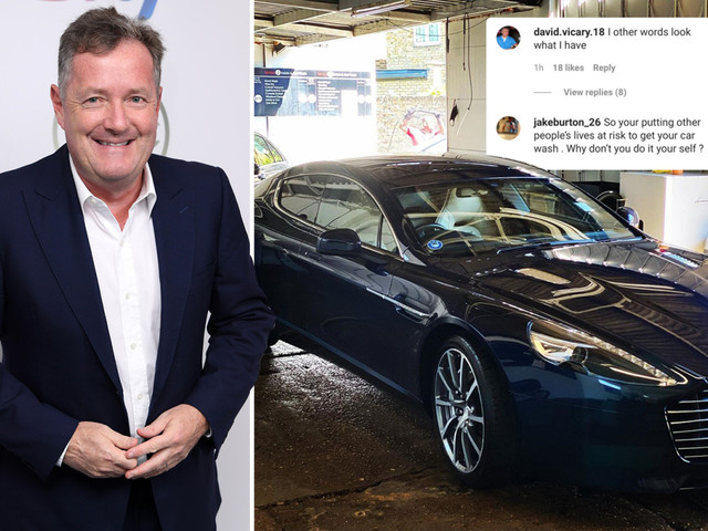 Piers Morgan leaves fans disgusted as he shows off his flashy Aston Martin while they struggle to pay bills after corona