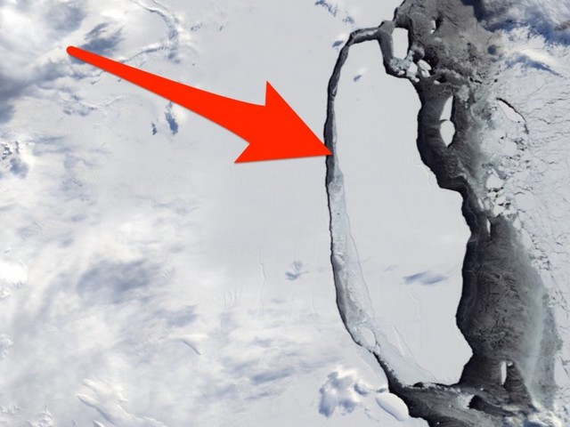 Watch a Delaware-size iceberg break off Antarctica and float away in an incredible new animation