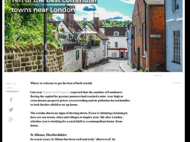 Ten of the best commuter towns near London