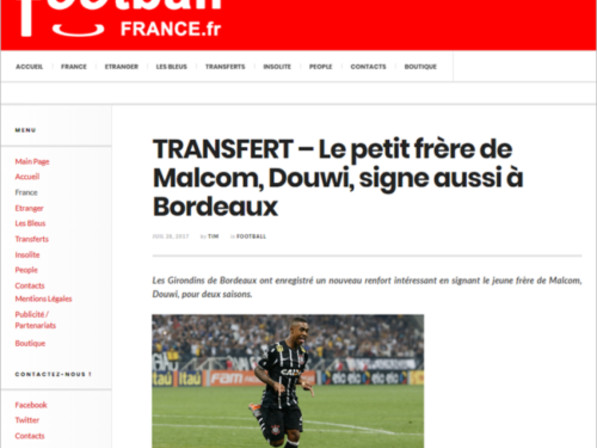 Le Cringe: French Journalist Tricked By Spoof Report That Bordeaux Have Signed Younger Brother Of Brazilian Winger Malcom, Named 'Douwi'