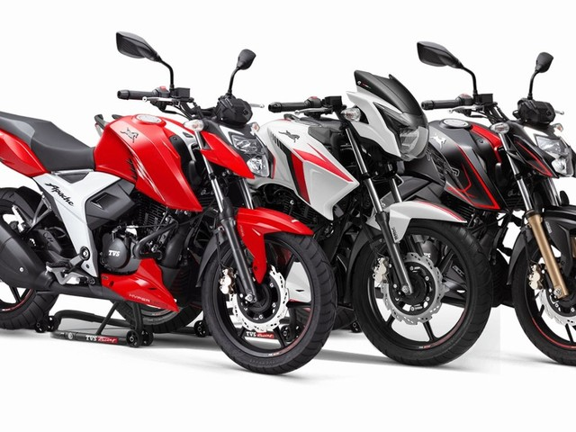 TVS Apache Series Sales Increased By Over 26% In September 2020