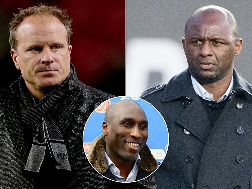Patrick Vieira and Dennis Bergkamp backed for Arsenal job by former team-mate Sol Campbell