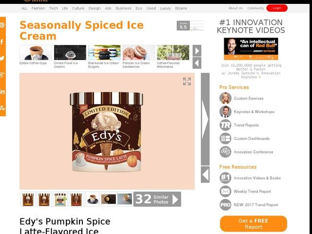Seasonally Spiced Ice Cream - Edy's Pumpkin Spice Latte-Flavored Ice Cream is a Delicious Treat (TrendHunter.com)