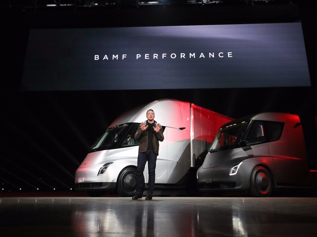 Tesla is rising after Anheuser-Busch places an order for 40 electric semis (TSLA, BUD)