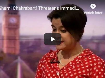 Shami Chakrabarti Threatens Immediate No Confidence Vote