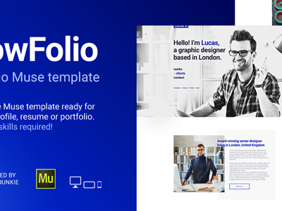 WowFolio - Responsive Portfolio / Resume Muse Template (Personal)
