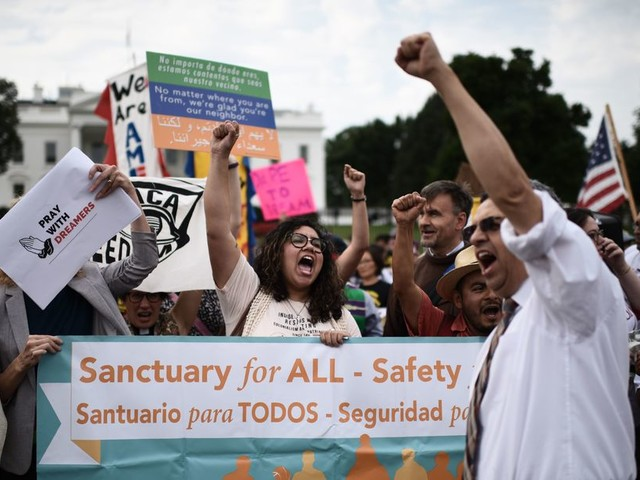 'We're not going to back down': Immigrant youth, allies across the nation rally for DACA