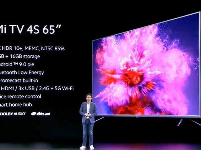 "Xiaomi announces the Mi TV 4S 65"", a 4K smart TV with voice remote"