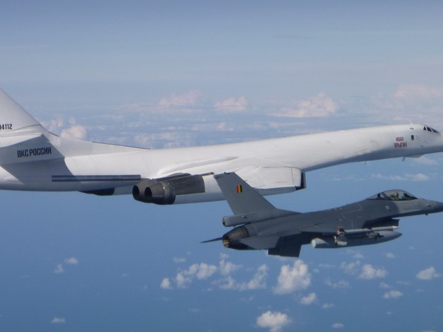 Belgian F-16s scrambled to intercept 2 Russian nuclear-capable supersonic bombers over the Baltic Sea